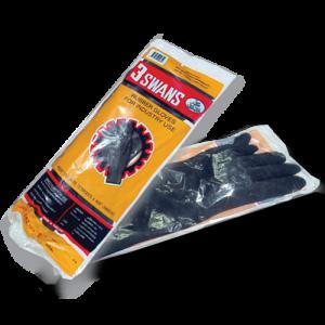 ถุงมืออุตสาหกรรม3ห่านสีดำ