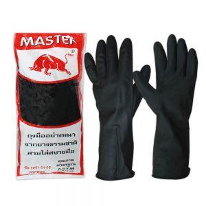 ถุงมือแม่บ้านMASTERกระทิงสีดำ1