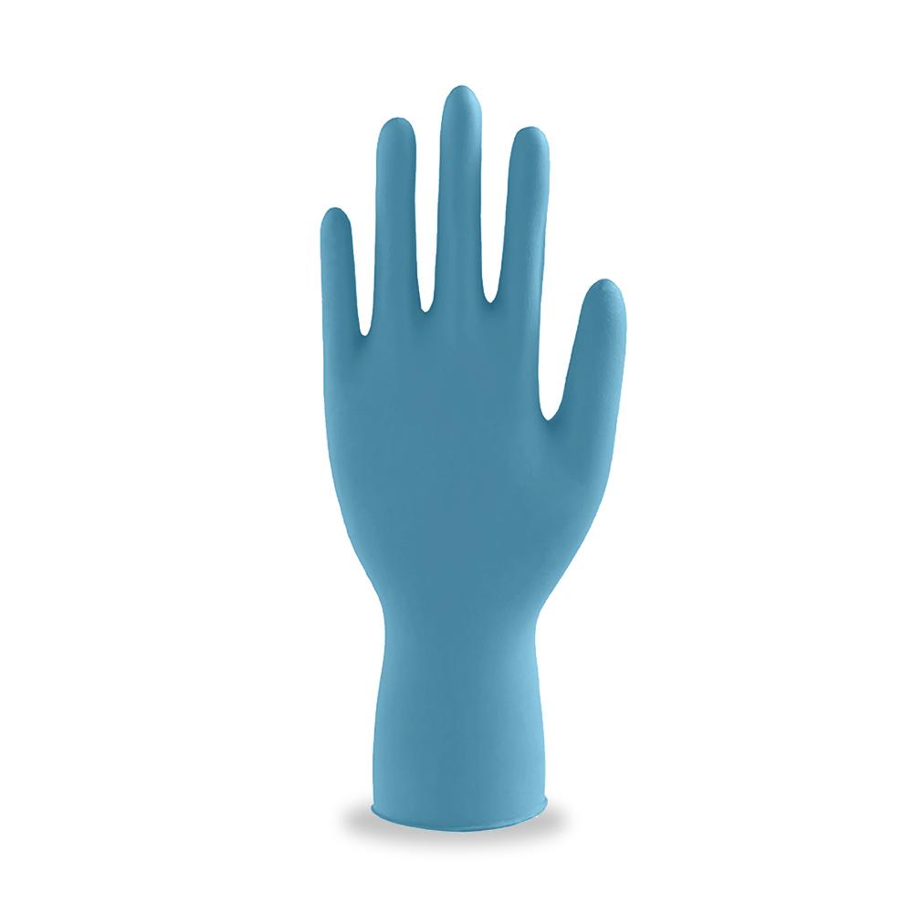 ถุงมือไนไตรแบบใช้แล้วทิ้งสีฟ้า