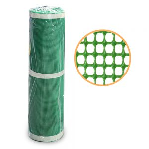 ตาข่ายพลาสติก4เหลี่ยมสีเขียว