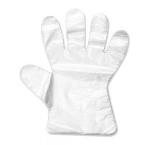 ถุงมือพลาสติกแบบบาง