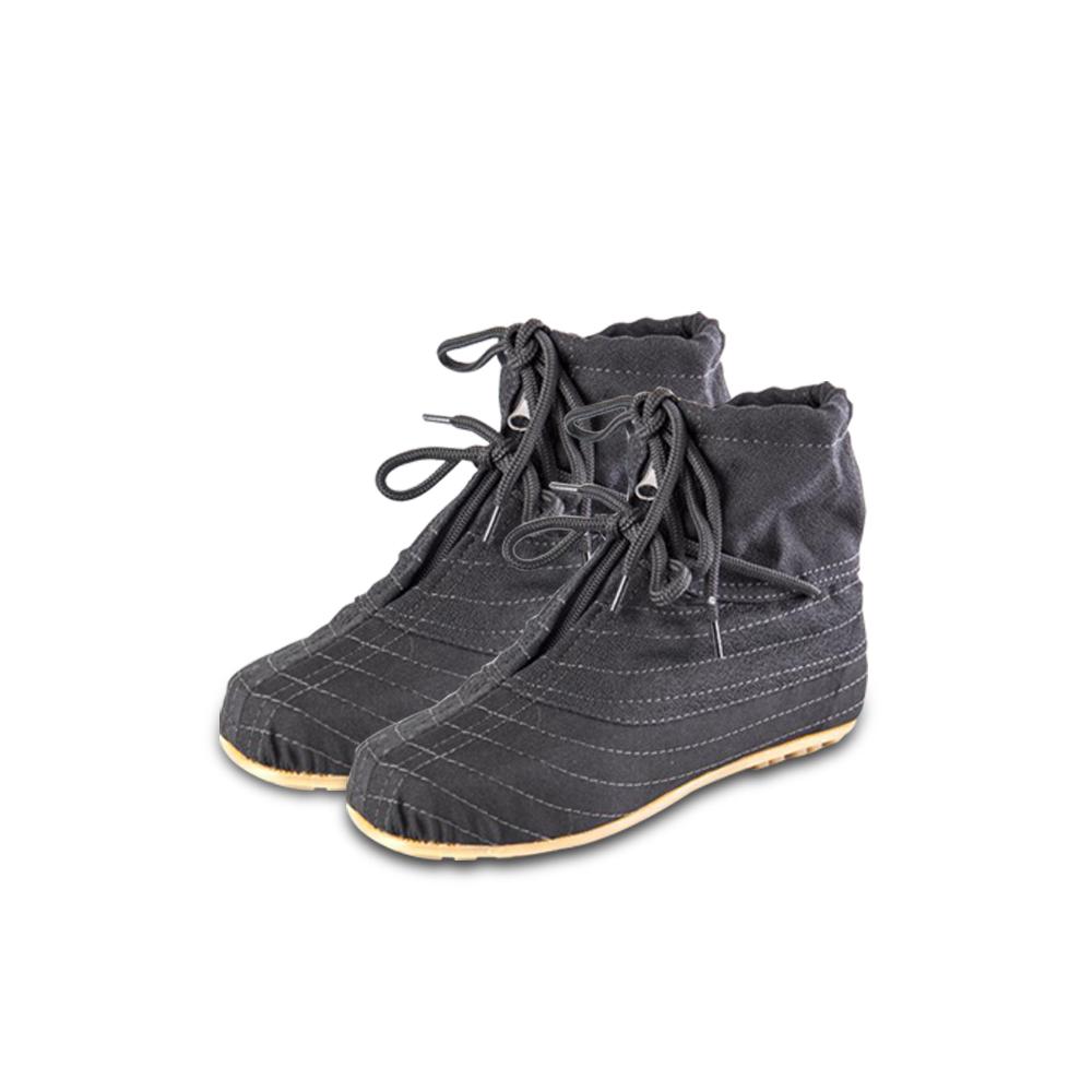 รองเท้าบู๊ทผ้ากรีดยางพาราหุ้มข้อพื้ันยางแก้ว