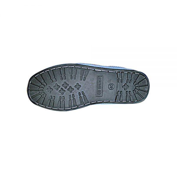 รองเท้าบู๊ทผ้ากรีดยางหุ้มข้อพื้นยางดำ2