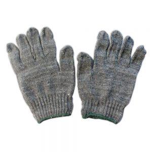 ถุงมือผ้าสีเทา01